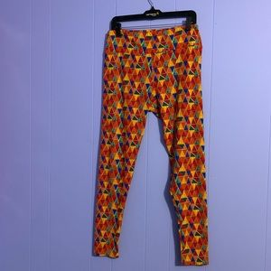 LulaRoe orange leggings